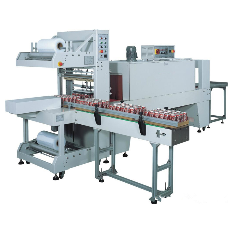 QSJ-5040A Automatic Sleeve Wrapper Bottle Packing Machine+BSE-5040A Heat Shrink Tunnel Machine
