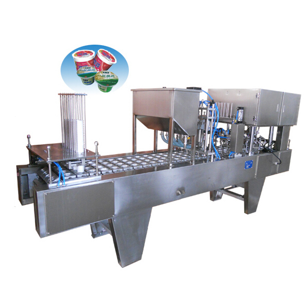 Automatic Plastic Yogurt Cup Filling Sealing Machine