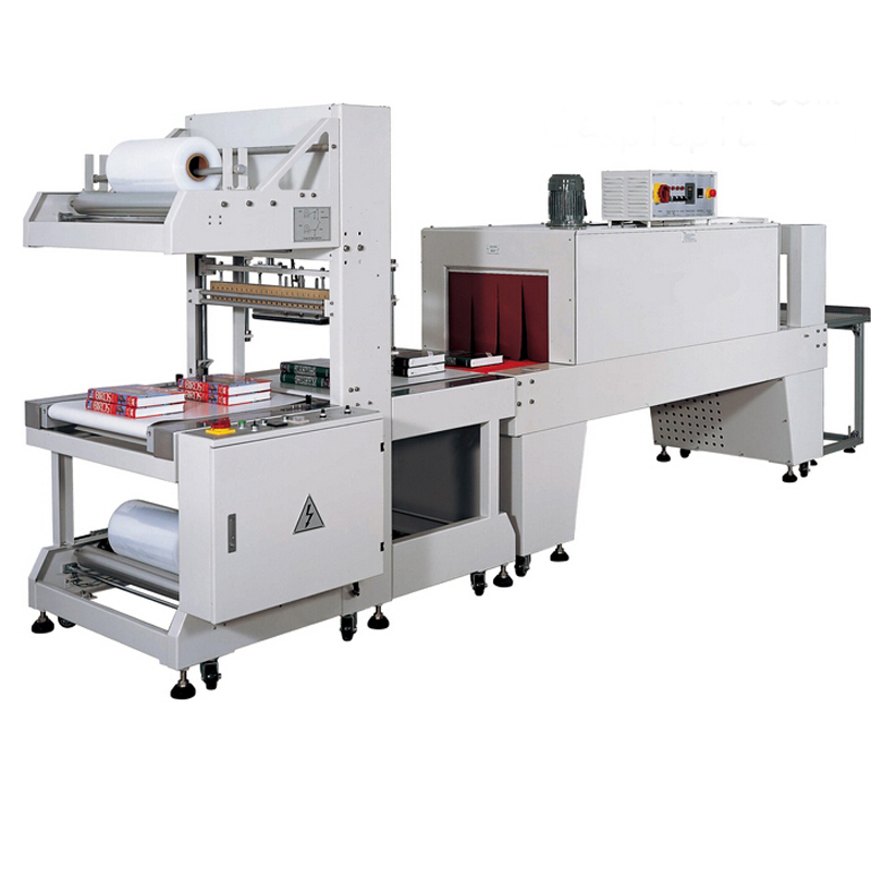 BZJ5038B Semi-Automatic Shrink Sleeve Labeling Machine And BSE5040A PE Film Shrink Packaging Machine