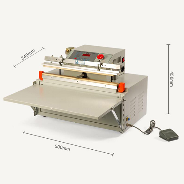 Commercial Desktop External Vacuum Packing Machine Continuous Band Sealer